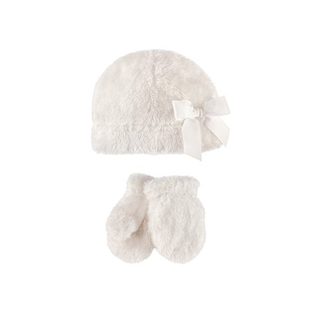 Toddler Girl Sherpa Hat & Mittens 2pc Set for $<!---->