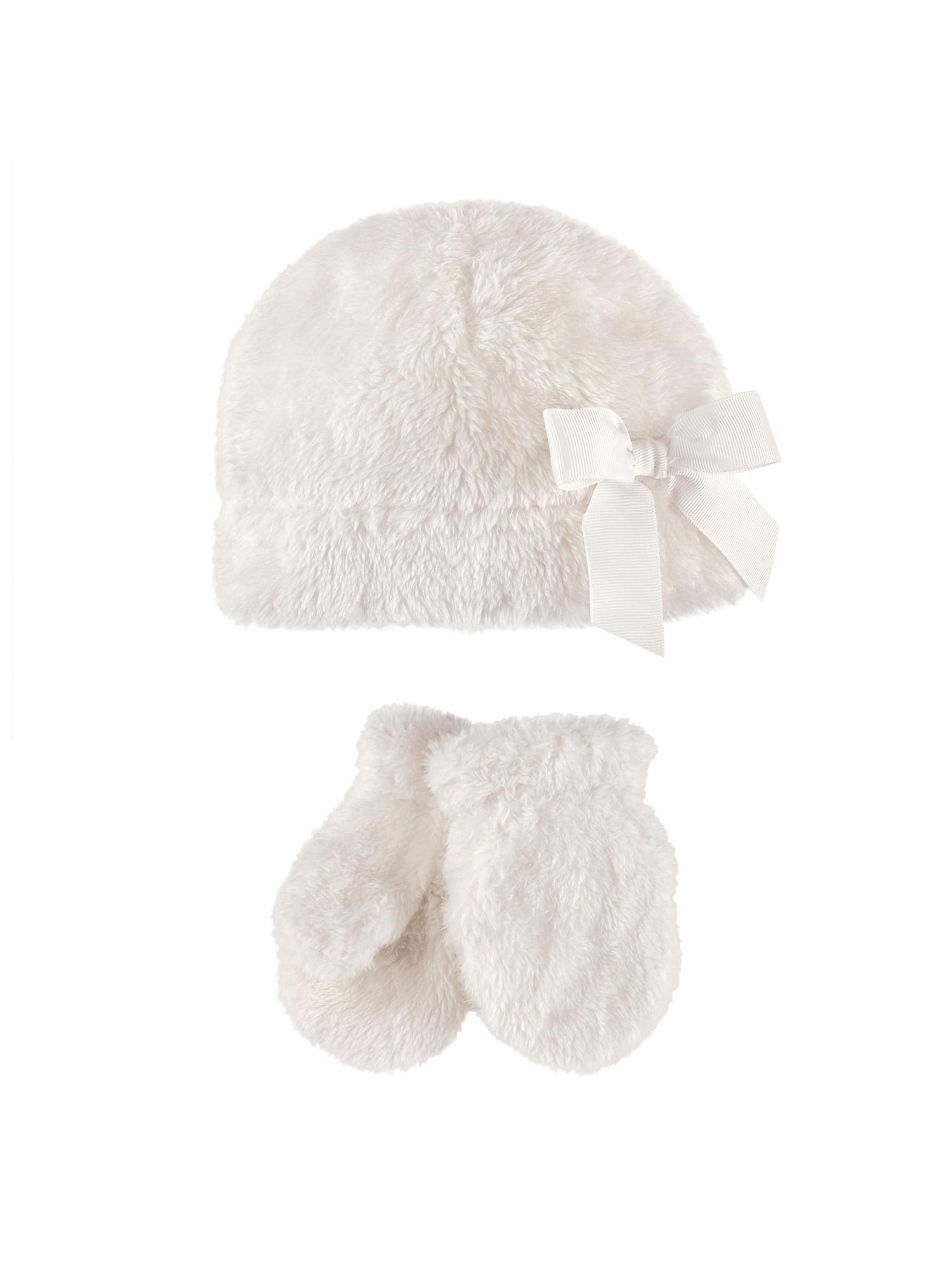 Toddler Girl Sherpa Hat & Mittens 2pc Set