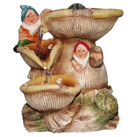 - SINTECHNO Two Cute Gnomes Tabletop Water Fountain
