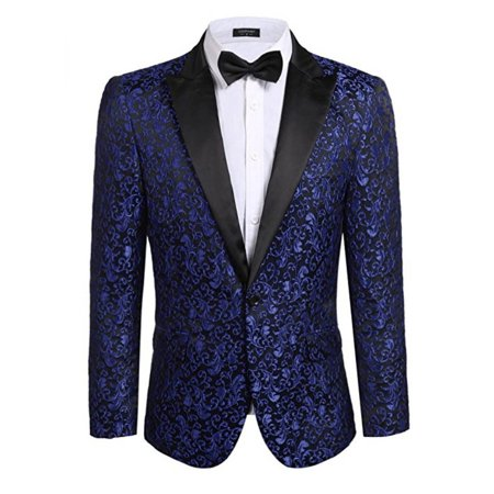 Slim Fit Men Suits Floral Wedding Blazer Party Groom Dress Suit Casual Business Jacket Formal Occasions Male Outerwear Coat - image 1 of 3