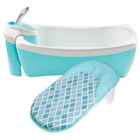 Baby Bathtub Stand - Summer Infant Lil' Luxuries Whirlpool, Bubbling Spa & Shower, Blue