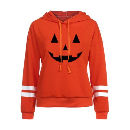 Mosunx Women Halloween Long Sleeve Hoodie Sweatshirt Jumper Hooded Pullover Tops Blouse](Halloween Jumpers Rentals)