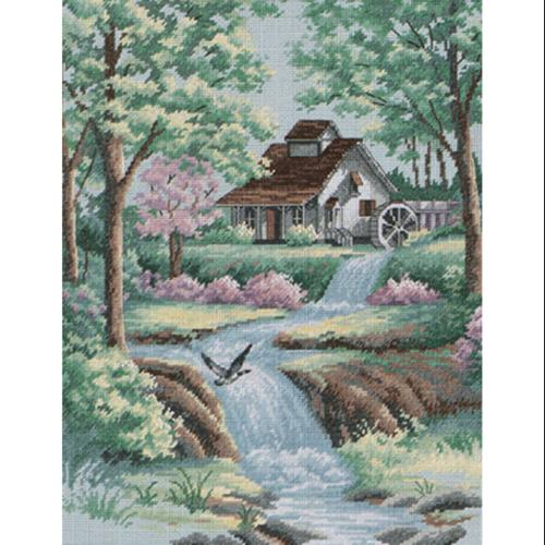 """Peaceful Stream Counted Cross Stitch Kit-11""""X14"""""""