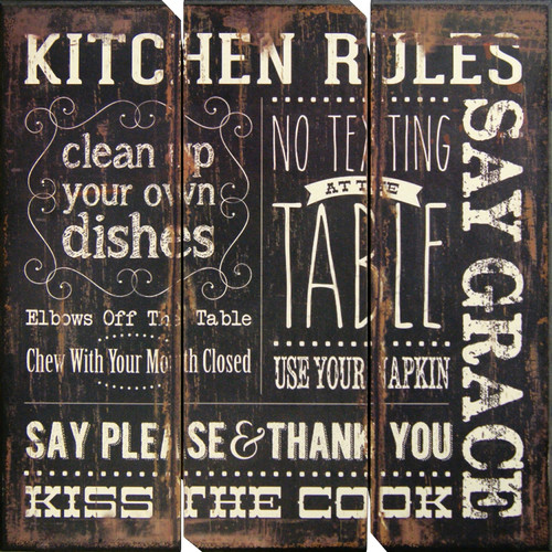 HDC International 'Kitchen Rules' Textual Art Plaque
