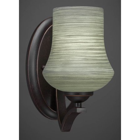 Wall Sconce with Gray Linen Glass Shade - Walmart.com