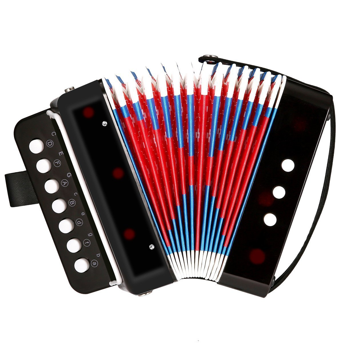 Children's Musical Instrument Balc Toy Accordion, Solo and Ensemble Instrument, Musical instrument for Early Childhood Teaching, Ten Keys, Great for Music Education