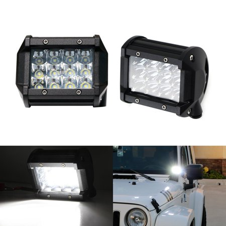 - iJDMTOY (2) Xenon White 36W LED Dually Pod Lights For Truck SUV Jeep Off-Road ATV 4x4 Fog Driving Lights, Backup Reverse Lamps, Search Lighting, etc