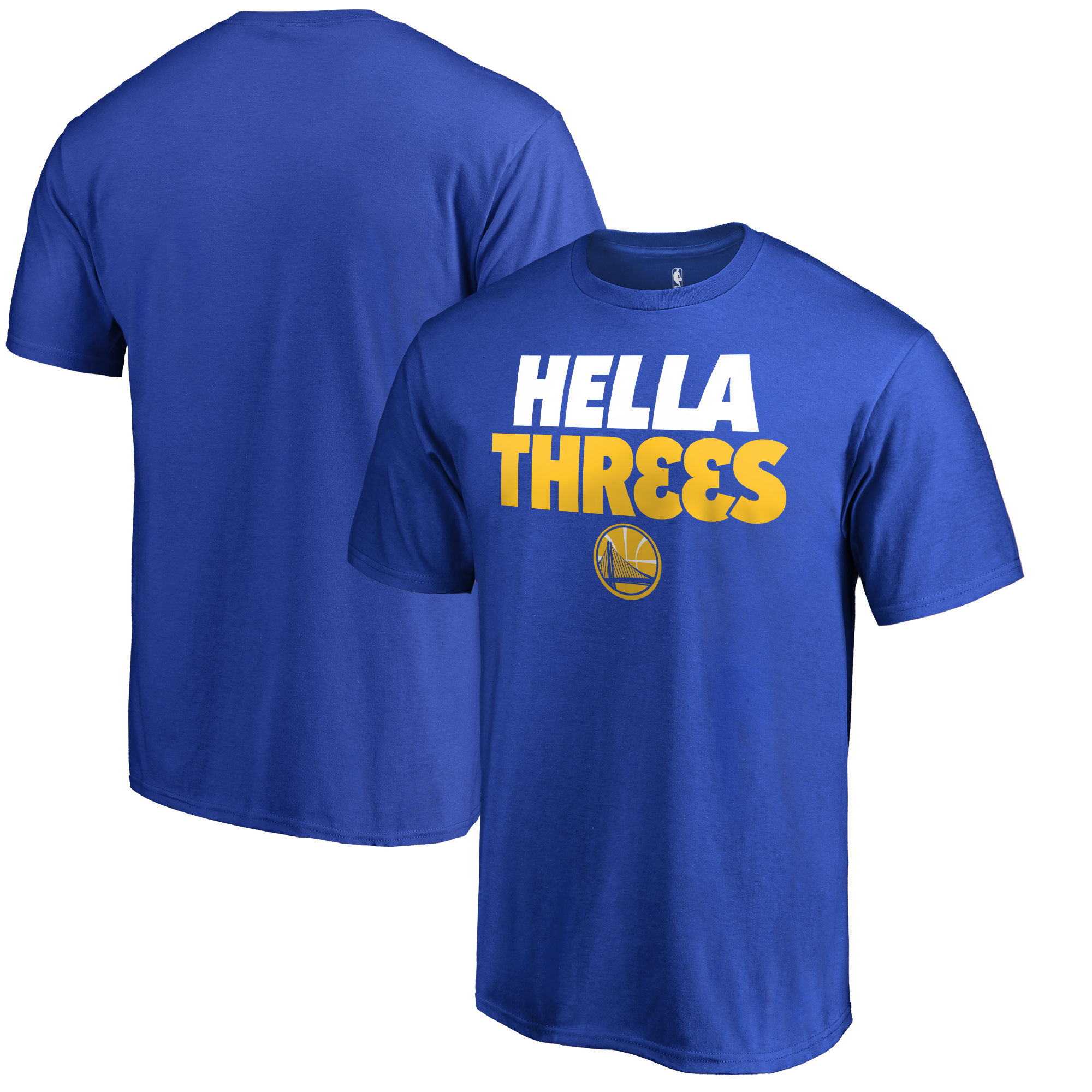 Golden State Warriors Fanatics Branded Youth Hometown Collection Hella Threes T-Shirt - Royal