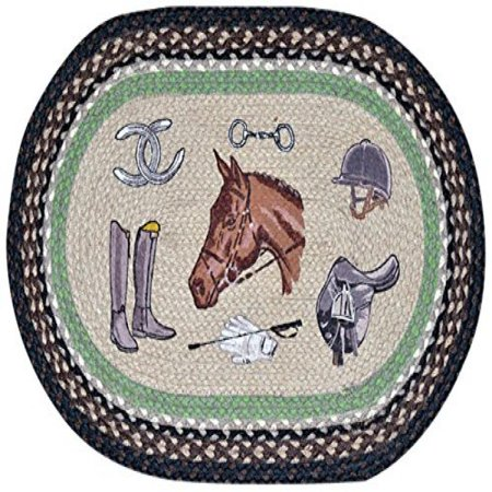 Earth Rugs 65-383E Equestrian Oval Design Rug, 20 by 30