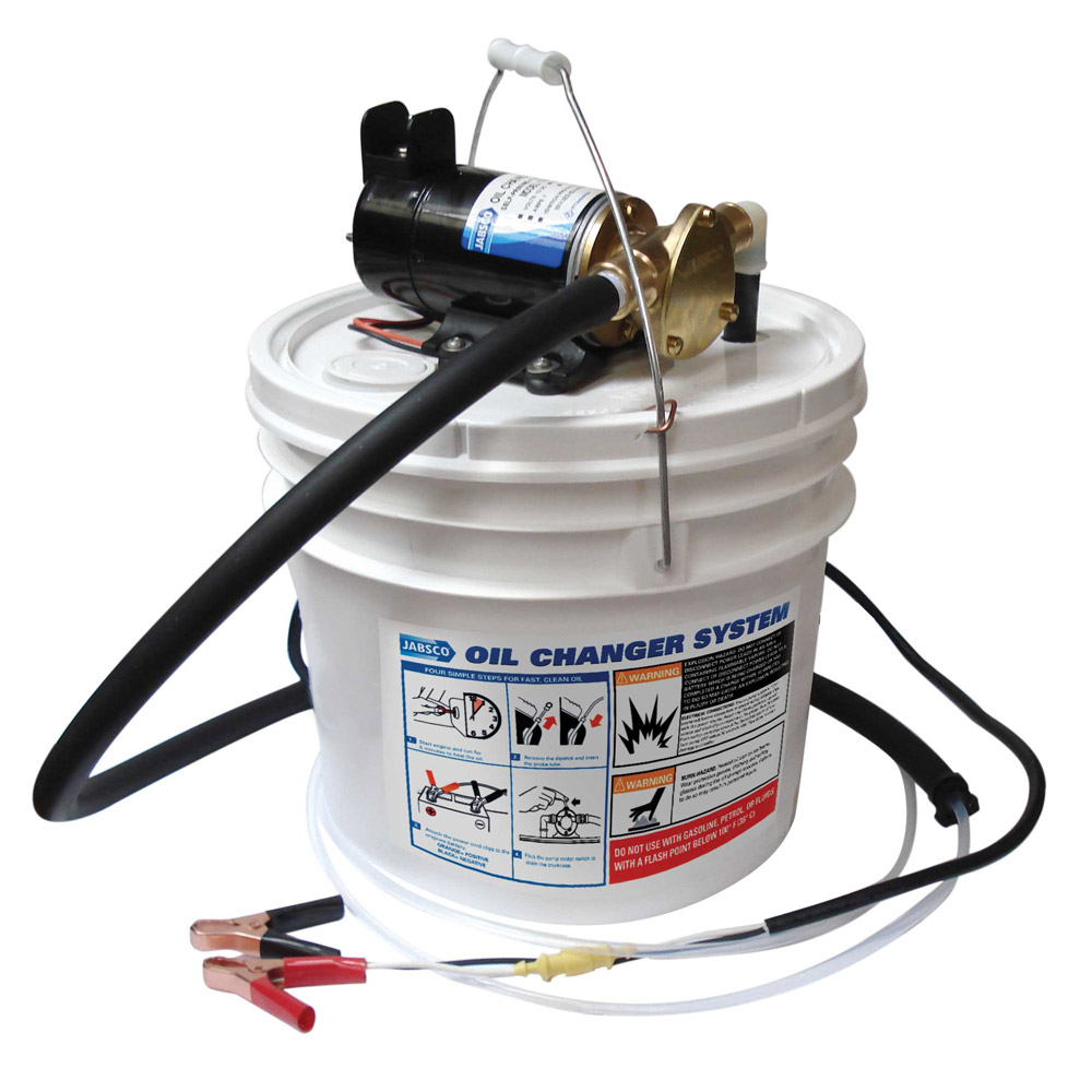 JABSCO 12V PORTA QUICK OIL CHANGER W/ REVERSIBLE PUMP