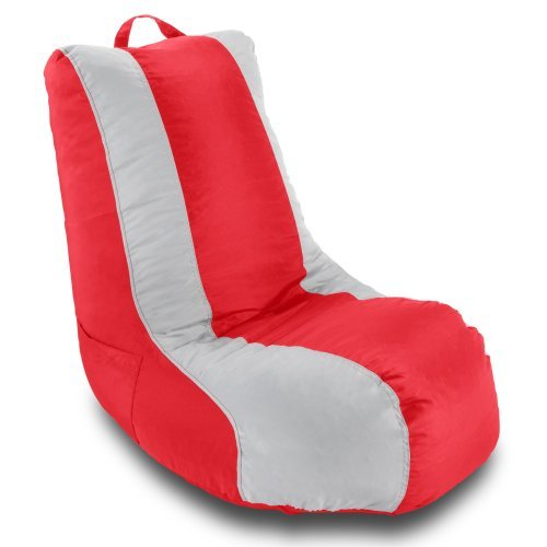 Ace Bayou Medium School Video Game Chair - Red/Silver