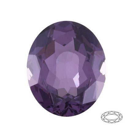 Oval Shape Imitation Amethyst Faceted Gemstone Sized 12x10 mm