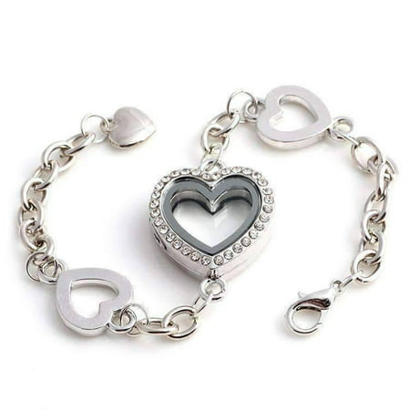 Story of My Life Heart Shaped Charm Locket Bracelet - Four Colors to (Forever In My Heart Lockets And Charms)