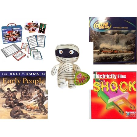 Children's Gift Bundle [5 Piece] -  Are You Smarter Than a 5th Grader In Lunch Box  - Glow In TheDark s   - Sugarloaf Kelly s Mummy Doll  11