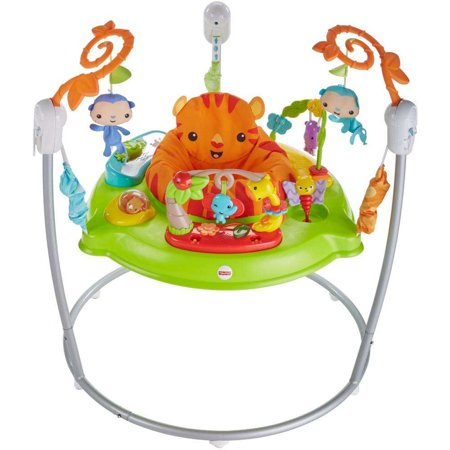 Fisher-Price Tiger Time Jumperoo with Music, Lights &