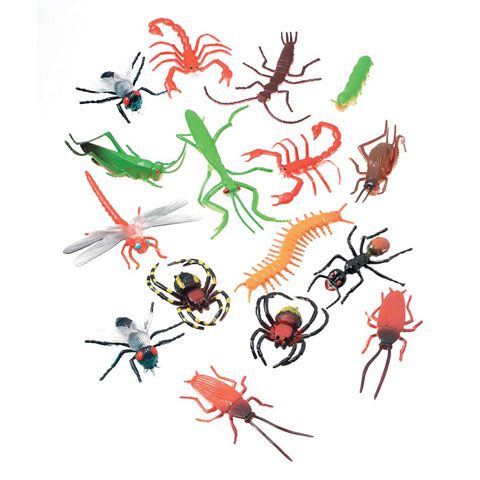 Plastic Insects 2In 16Pk by Darice