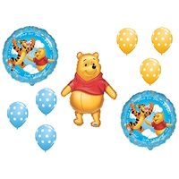 Winnie the Pooh Baby BOY Shower Welcome Little one Balloons Bouquet Party Decor