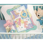 "Dimensions Baby Hugs ""Zoo Alphabet"" Quilt Stamped Cross Stitch Kit, 34"" x 43"""