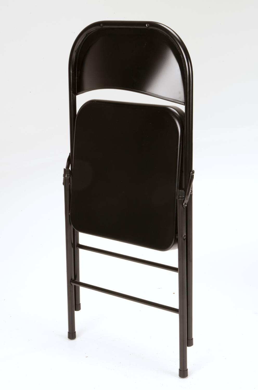 Mainstays Steel Folding Chair, Black
