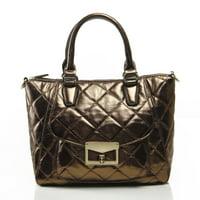 Noble Mount Quilted Metallic Antoinette Satchel/Handbag