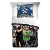 WWE Comforter 2Pc Comforter and Sham Set, Kids Bedding, Twin/Full, Armageddon