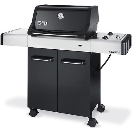 weber spirit e 210 26 000 btu 2 burner lp gas grill black. Black Bedroom Furniture Sets. Home Design Ideas