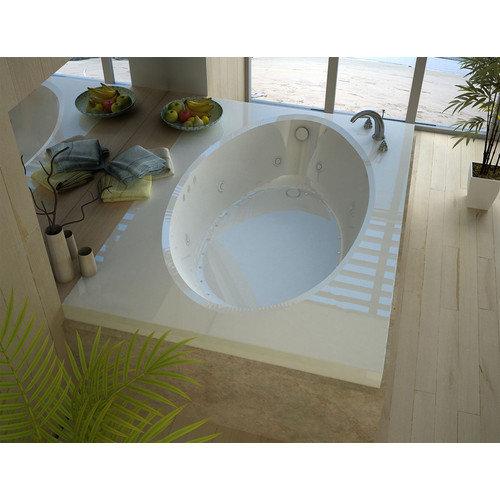 Spa Escapes Bermuda Dream Suite 83.38'' x 42.5'' Rectangular Air & Whirlpool Jetted Bathtub