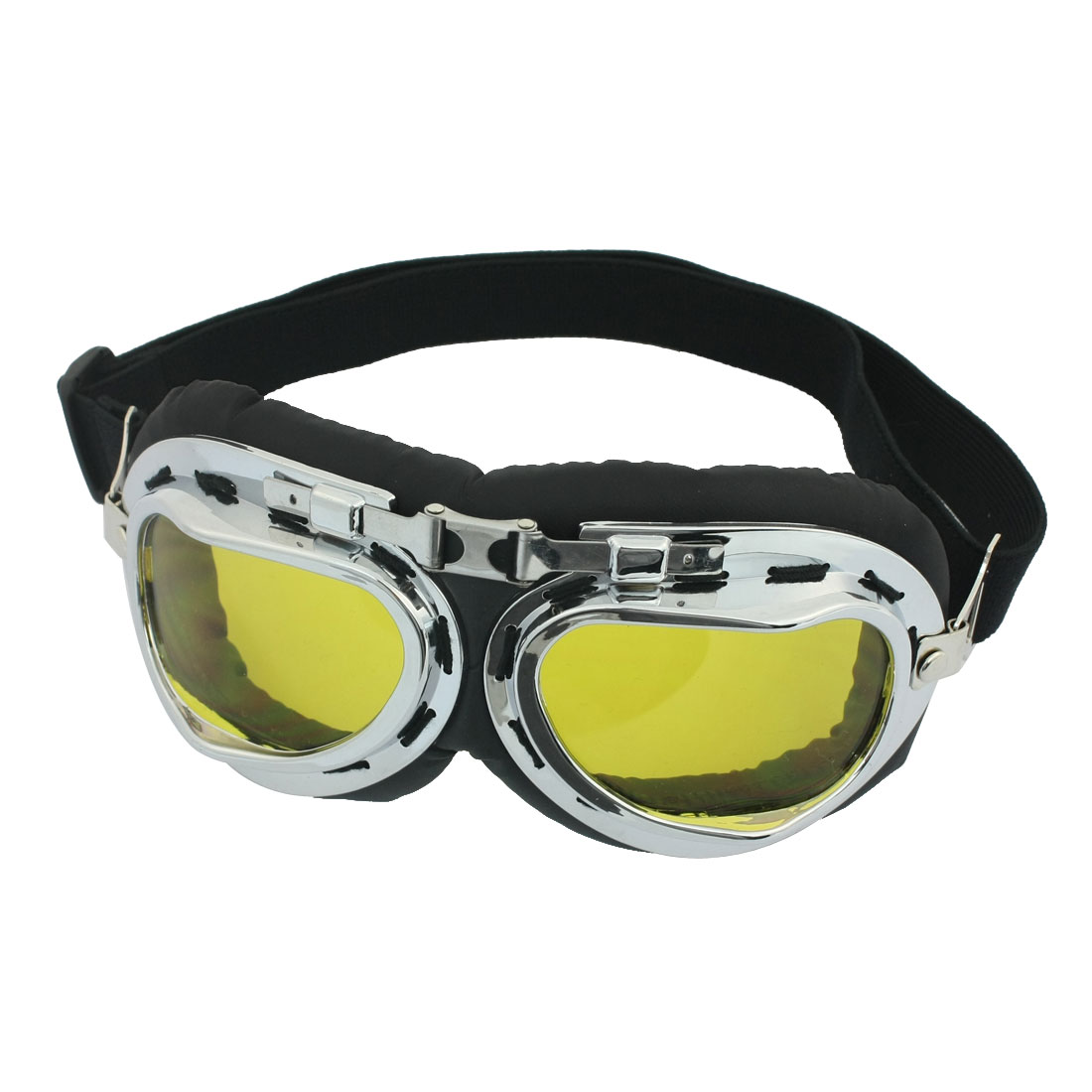 Unisex Metal Frame Full Rim Elastic Head Band Ski Goggles Glasees by Unique-Bargains
