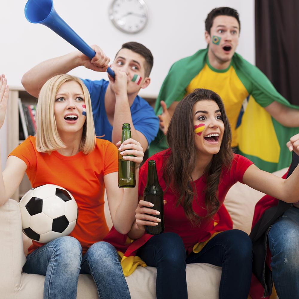 """Party Supplies Vuvuzela 26/"""" Stadium Horns 4-pack"""