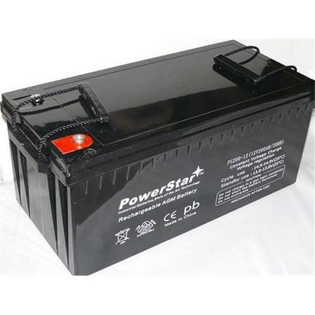 powerstar ps200 12 10 12v 200ah battery sealed lead acid rechargeable batteries golf cart rv ect. Black Bedroom Furniture Sets. Home Design Ideas