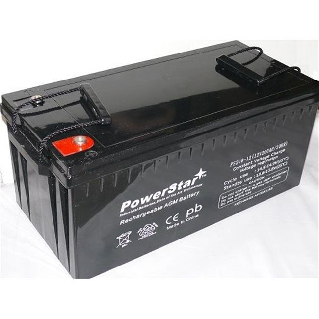 PowerStar PS200-12-10 12v 200ah Battery Sealed Lead Acid Rechargeable batteries golf cart RV ect.