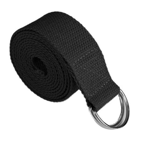 SAYFUT Metal D-Ring Yoga Strap 6ft Durable Cotton Band Exercise Belt for Stretching and Flexibility (Stretch Bands For Flexibility)