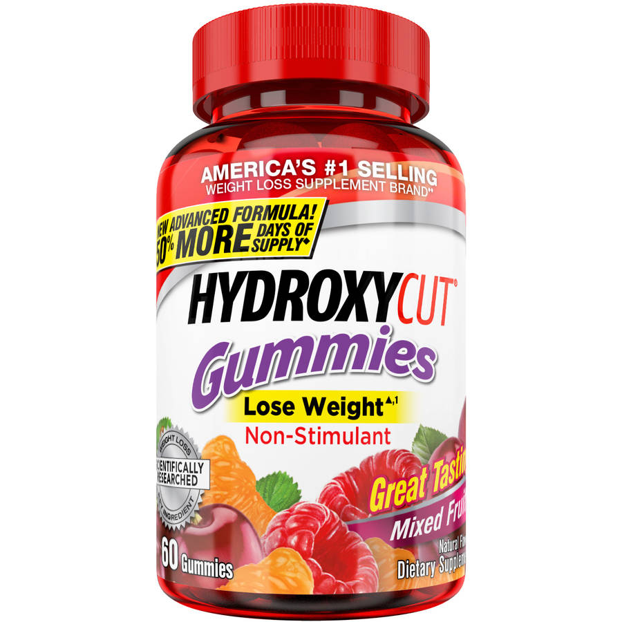 Hydroxycut Weight Loss Supplement Mixed Fruit Gummies, 60 count