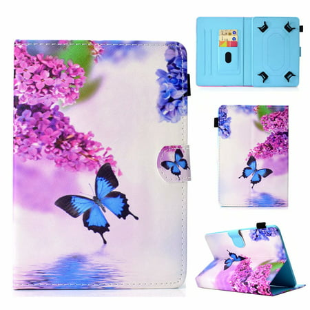 Universal 8 inch Tablet Case Flip Painted Leather Folio Stand Cover For iPad mini / Samsung Tab 8inch / Amazon Fire HD 8