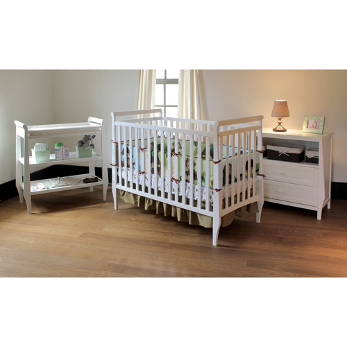 Summer Infant - Carrington Crib, Changing Table, and Dresser 3 PC Set, White