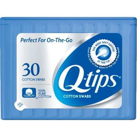 Q-tips Cotton Swabs Purse Pack 30 ct