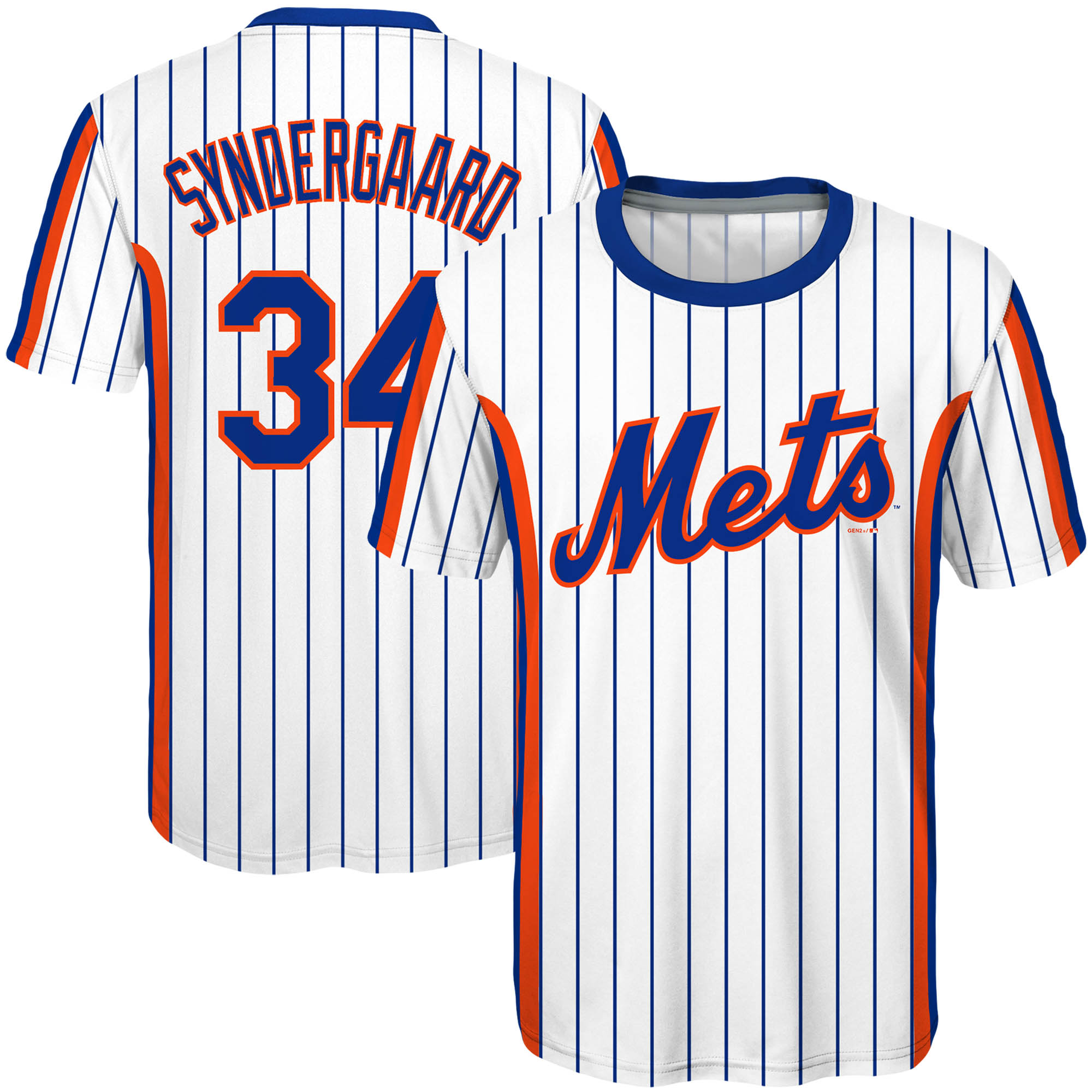 Noah Syndergaard New York Mets Majestic Youth Sublimated Cooperstown Collection Jersey T-Shirt - White