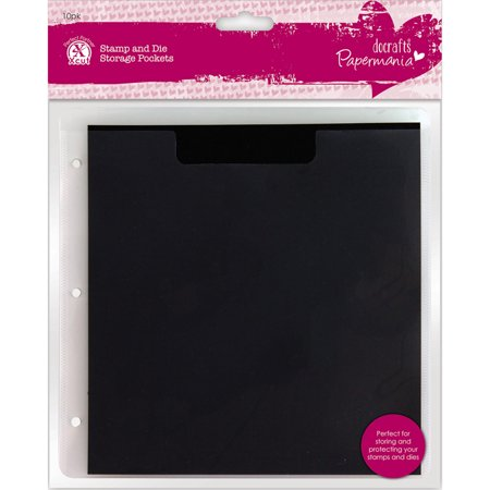 Papermania Stamp And Die Storage Pockets 10pk With