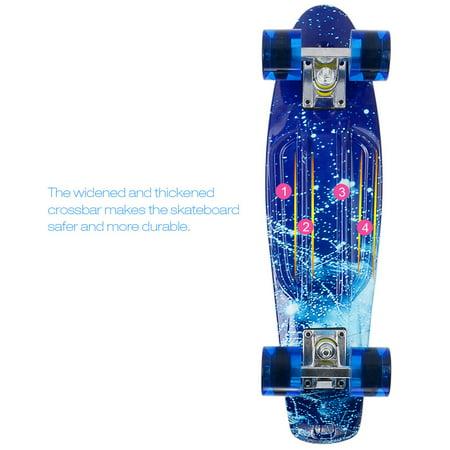 PHAT 22 inch Plastic Skateboard Cruiser Street Surfing Skate Banana Board - image 7 of 7