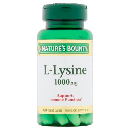 Nature's Bounty L-Lysine Amino Acid Supplement Tablets, 1000mg, 60 Ct