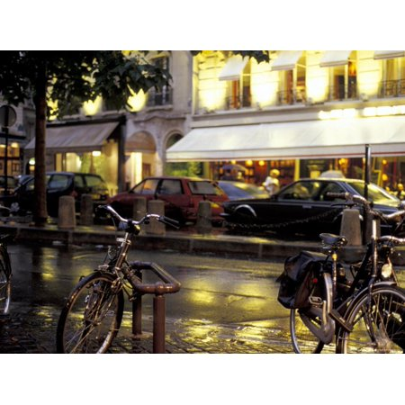 Evening Street Scene with Bicycles, Paris, France Print Wall Art By Michele Molinari - Evening Street Scene