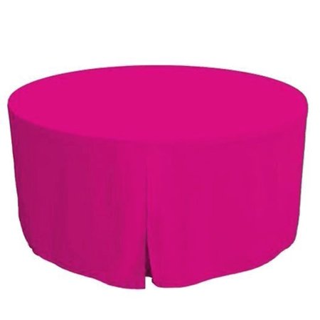 "48 Inch Round Polyester Foldable Table Cover Tablecloth Trade show 18 COLOR"", (Color: hot pink)"