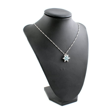 Frozen Rhinestone Snowflake Pendant Necklace Jewelry For Mom & Kids
