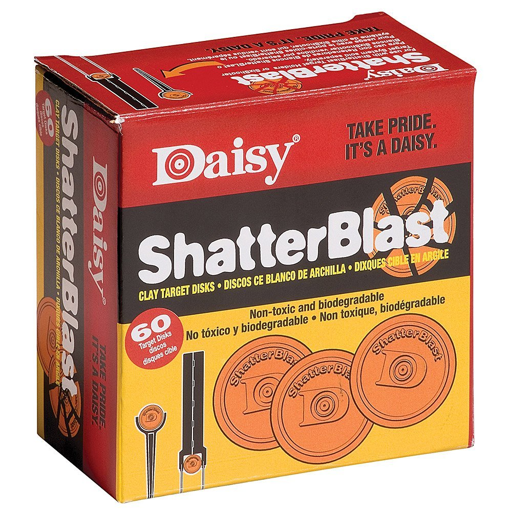 """Shatterblast Breakable Refill Target 2"""" Disks (60 Pack), Ship from USA, Brand Daisy by"""