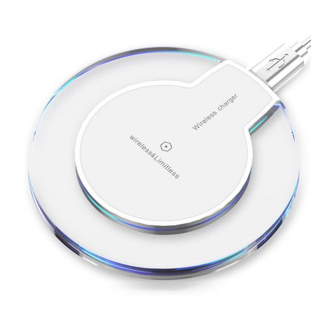 Wireless Charger, QI wireless Charging pad Stand for iPhone X/8/8 Plus, Samsung Note 8/Note 5, Galaxy S8/S8 Plus/S7/S7 Edge, Nexus 7/6/5, LG G2/G3, Moto Droid Turbo and All Qi-Enabled Devices -