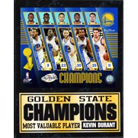 12x15 Stat Plaque - 2017 NBA Champions Golden St. Warriors