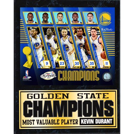 12x15 Stat Plaque - 2017 NBA Champions Golden St. Warriors