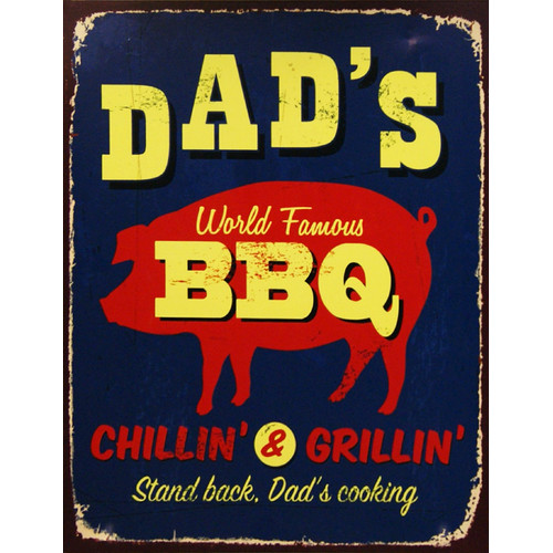 HDC International Dad's BBQ Sign Wall Decor