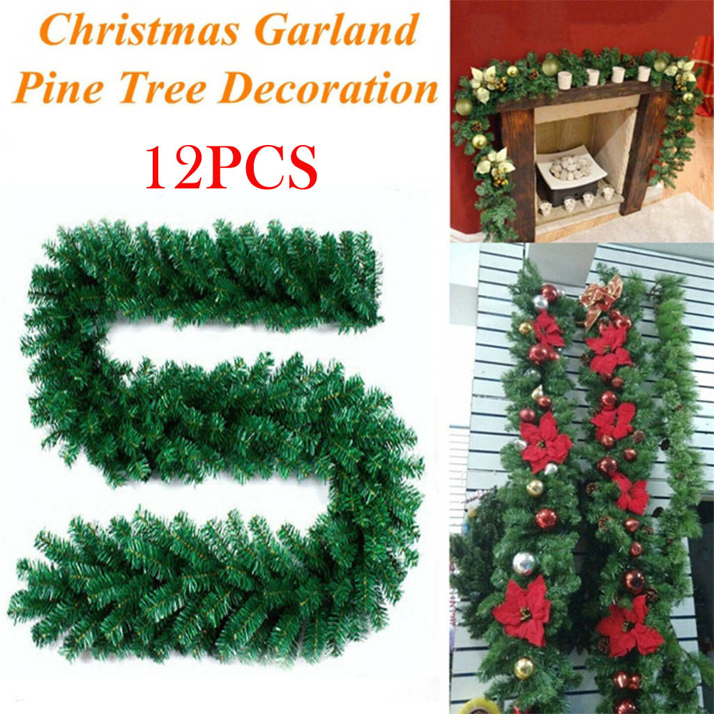 Lyinloo 2 7m Christmas Decorations Ornaments Xmas Tree Garland Rattan Home Wall Walmart Com Walmart Com