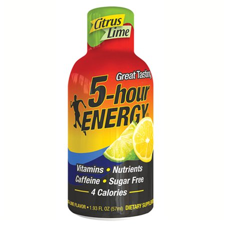 5 Hour Energy Citrus Lime Energy Drink 1 93 Oz Plastic Bottles   Pack Of 24
